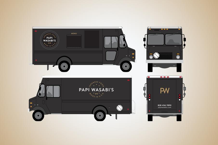 Papi Wasabi Logo Amp Truck Graphics Israel Hill